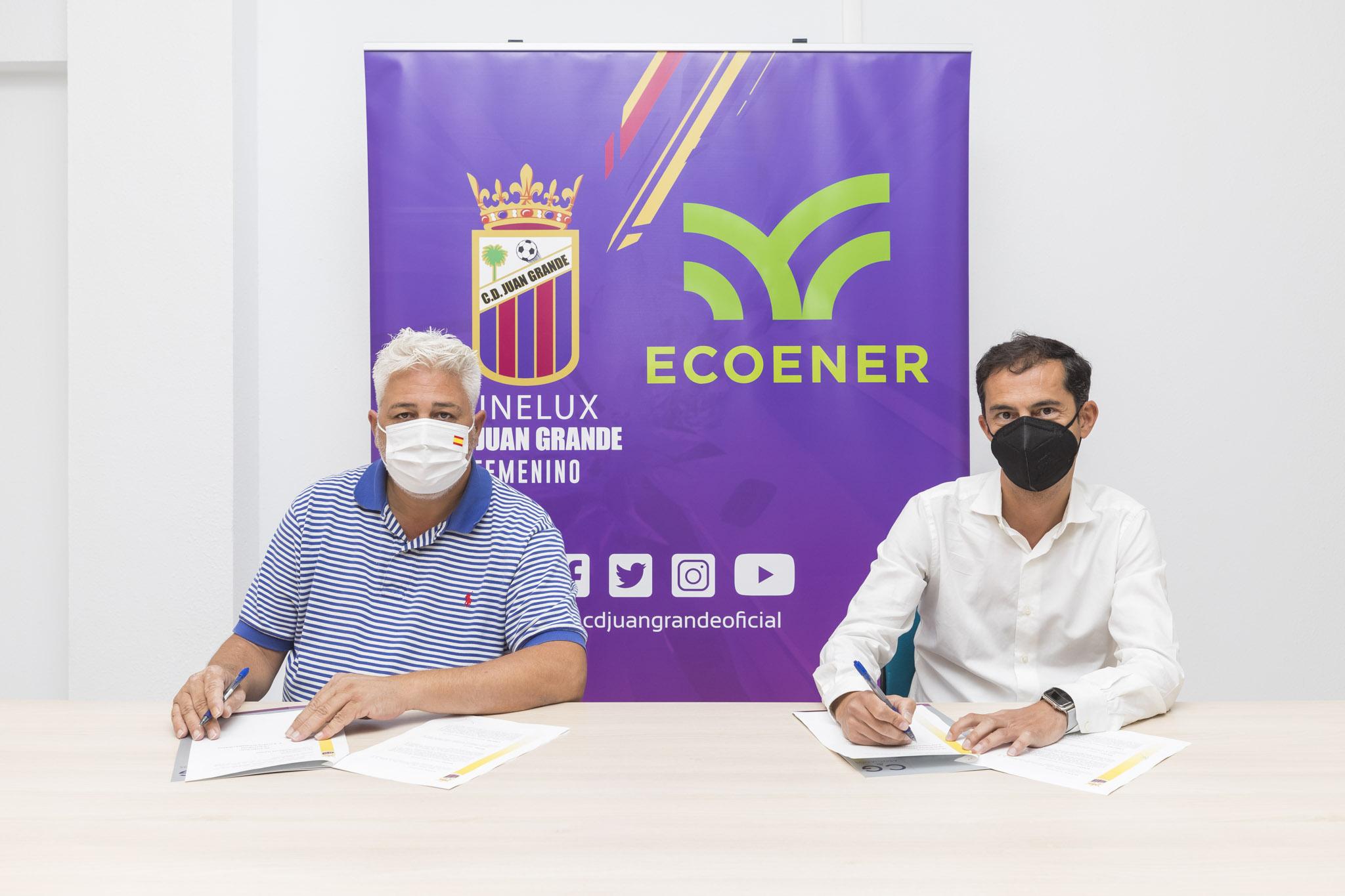 Ecoener, patrocinador del Club de fútbol femenino Ginelux Juan Grande de Gran Canaria